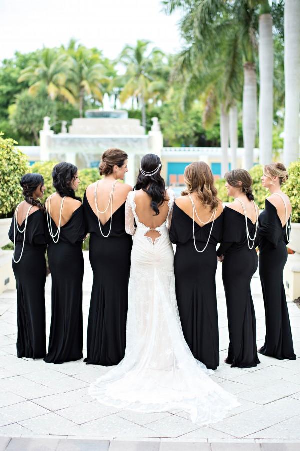 Biało czarne przyjęcie weselne